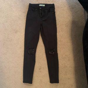 Distressed Topshop Jaime Jeans